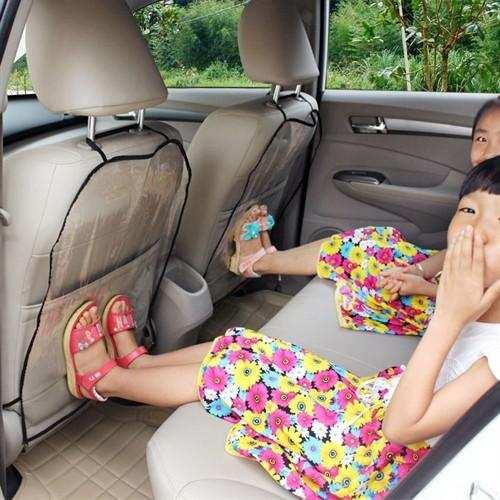 Araba Araç İçi şefffaf Oto Koltuk Arkası Koruyucu 2li Set Kılıf