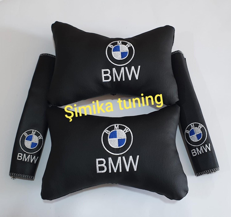 BMW Papyon Lüks Deri Yastık ve kemer konfor Boyun minder