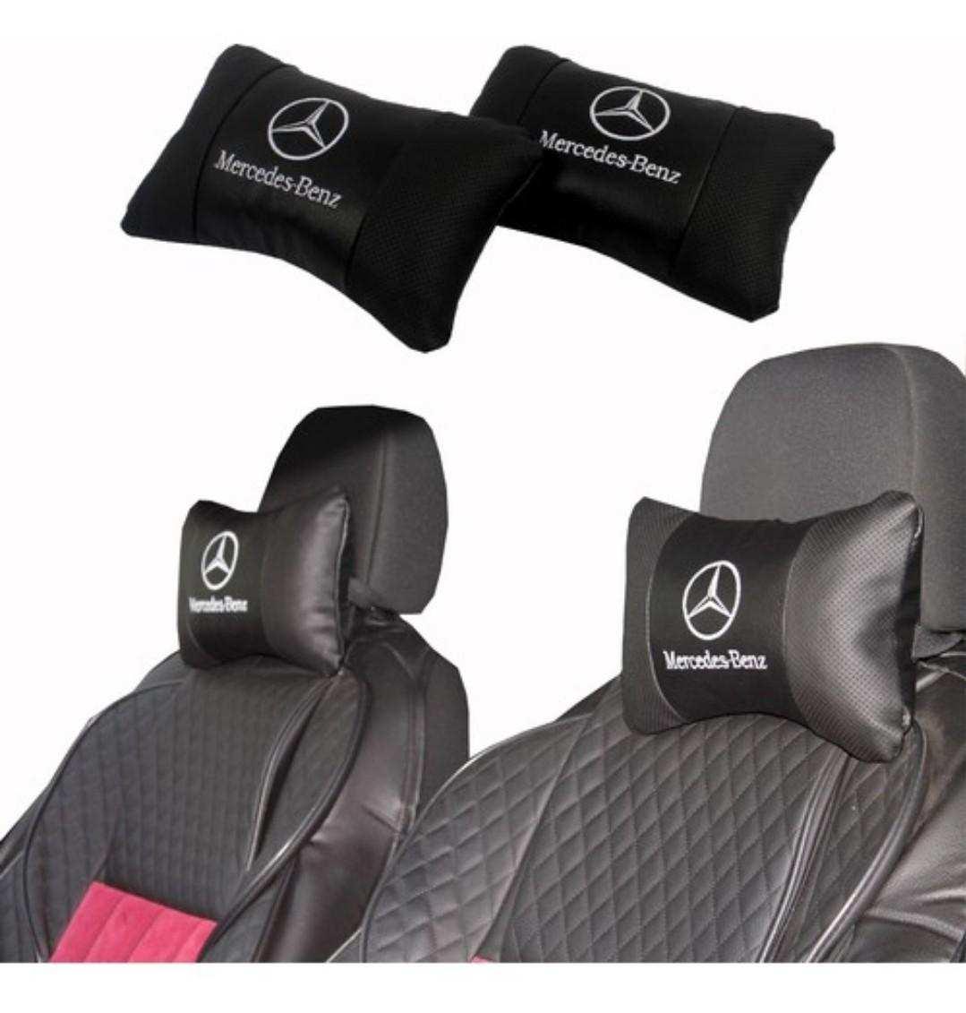 Deri Mercedes Araç Boyun Yastık  2 li SET