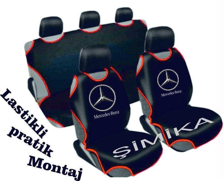 Mercedes Ön Arka Atlet Kılıf Minder Airbag Uyumlu 5 başlık kılıf