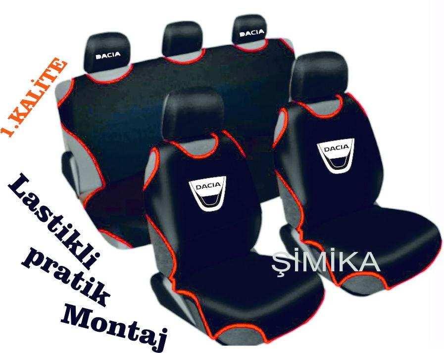 DACİA Ön Arka Atlet Kılıf Minder Airbag Uyumlu 5 başlık kılıfı 1
