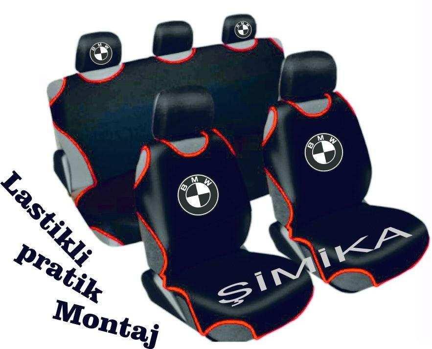 BMW Ön Arka Atlet Kılıf Minder Airbag Uyumlu 5 başlık kılıfı 1.k