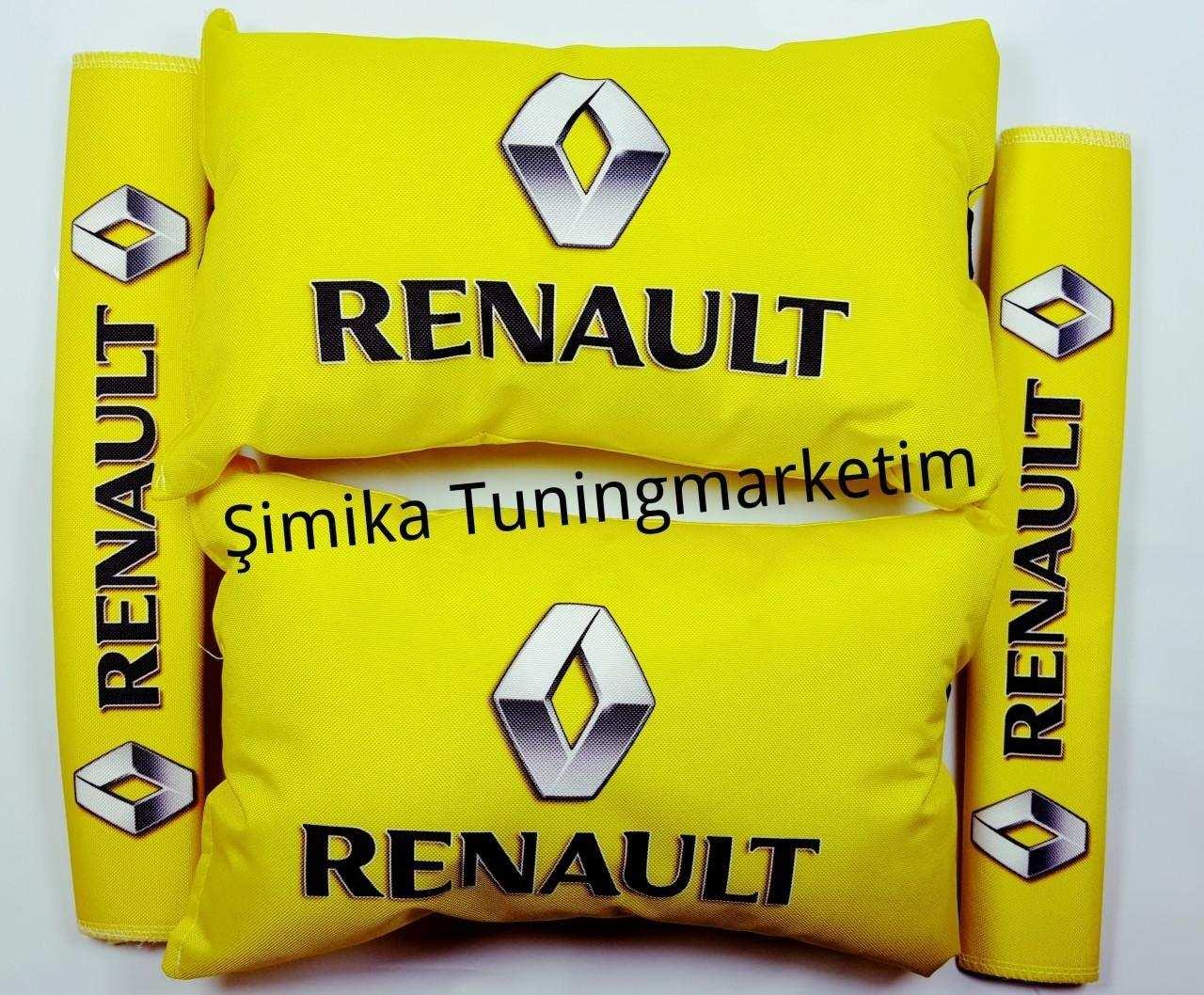 Renault YASTIK LASTİKLİ 2 Lİ VE 2 KEMER KILIFI