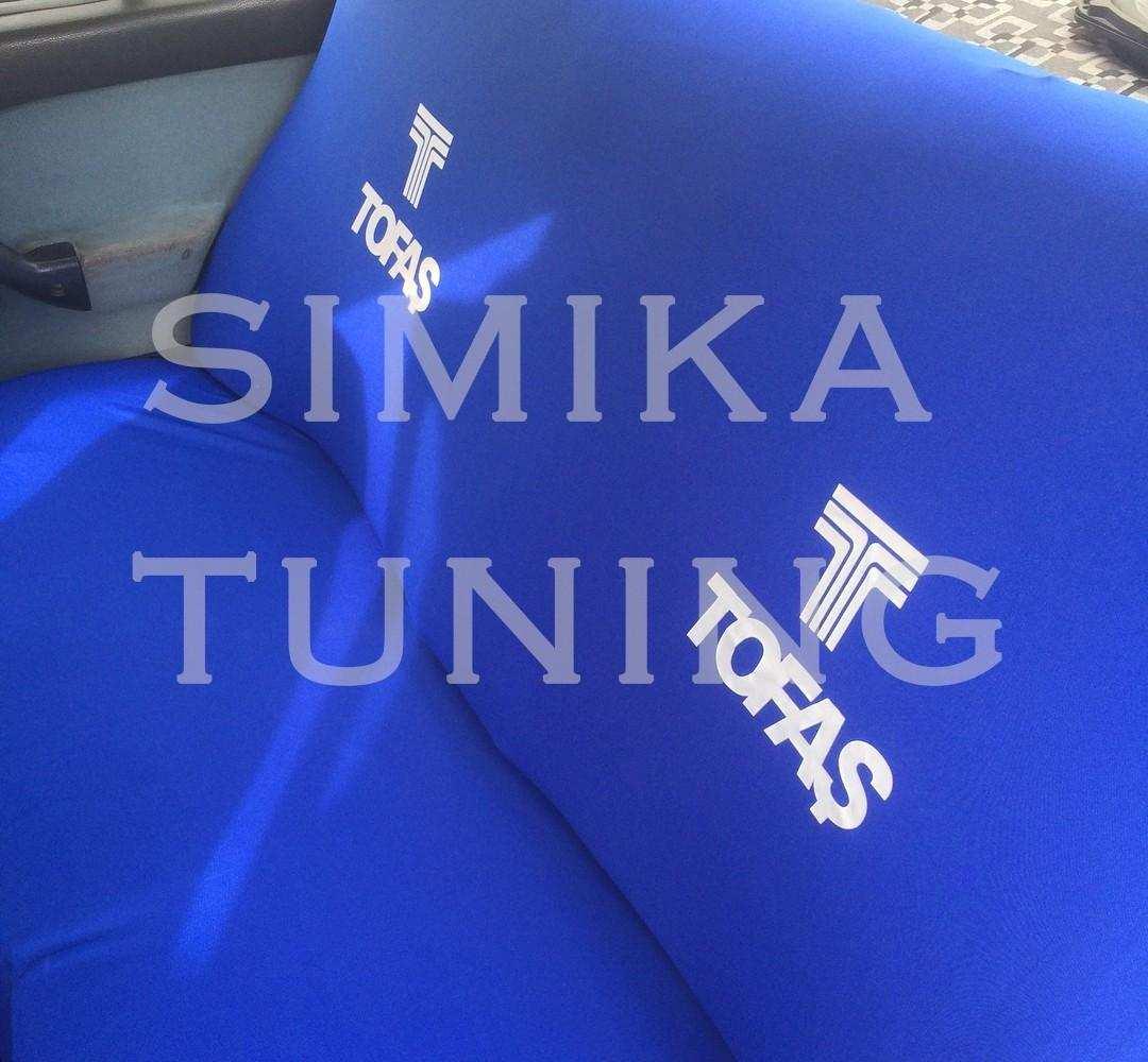 Tofaş Sax Mavi Renk Ön ve Arka Koltuk Penye Kılıf HEDİYE STICKER