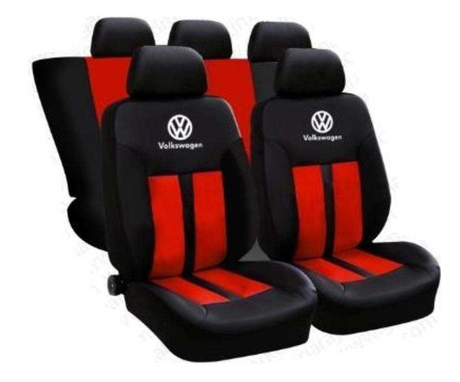 VW Volkswagen Spor Premium Oto Koltuk Kılıfı Ön Arka Set Logolu