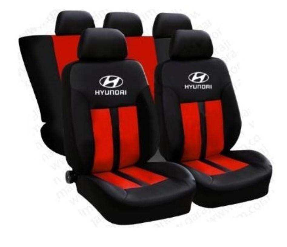 Hyundai Spor Premium Oto Koltuk Kılıfı Ön Arka Set Logolu -Hediy