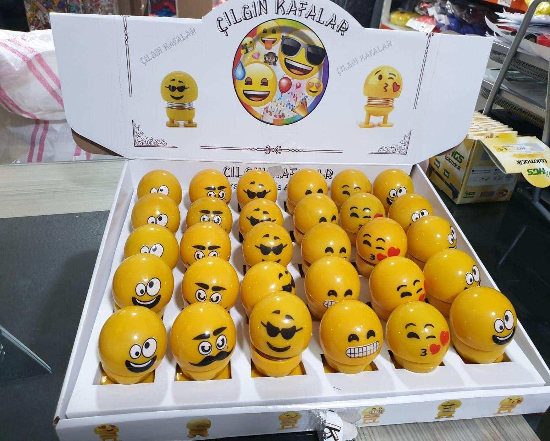 1 kutu 30 adet ZIP ZIP Emoji Smile Zıp Zıp Kafa Sallanan TOPTAN