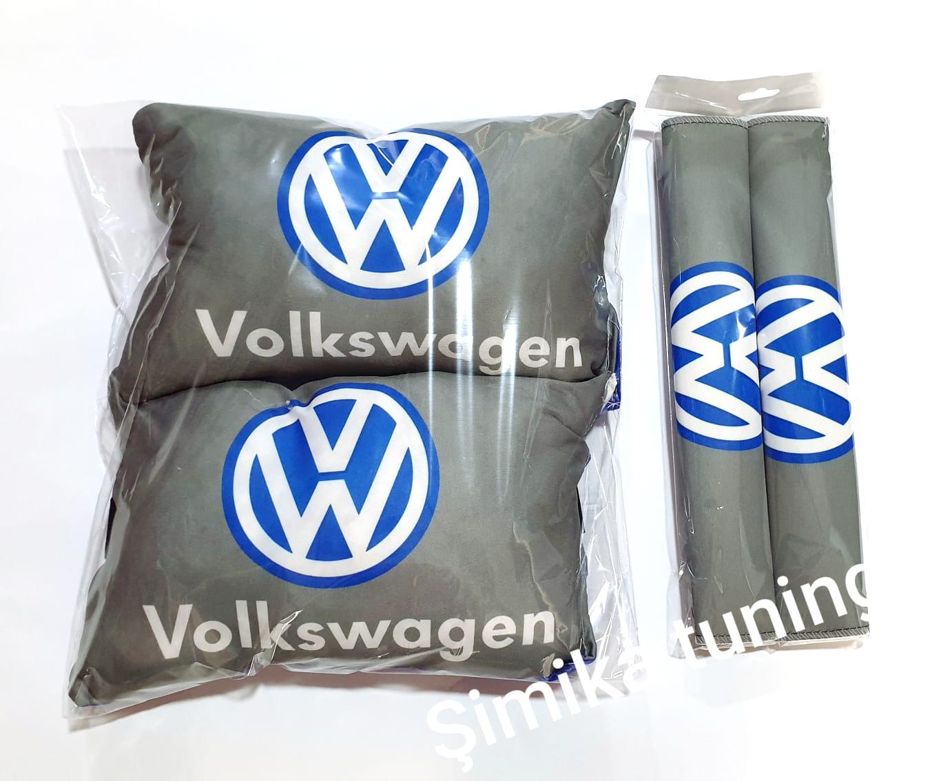 VOLKSWAGEN VW Araç Boyun Yastık ve Kemer Konfor 2 li SET