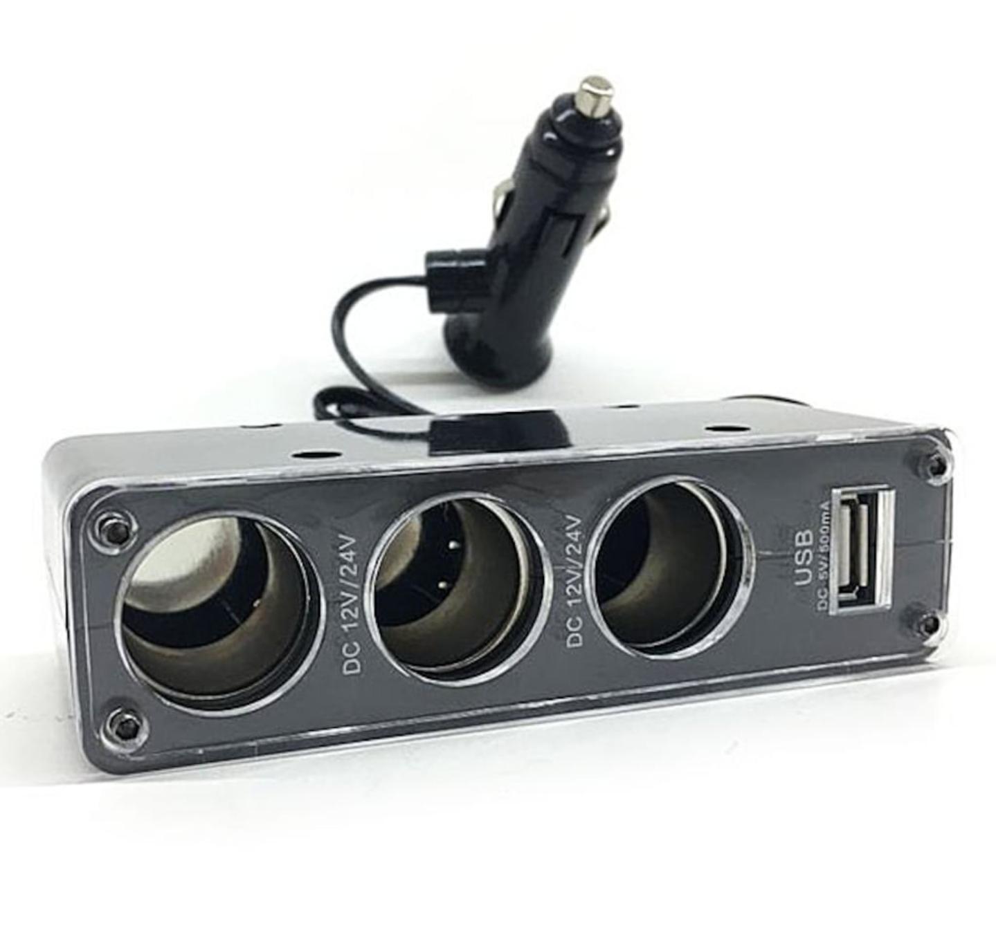 Araç Çakmak Soket çoklayıcı 3+1 Mini Çift USB Port Şarj Adaptörü Yılında 12 V Evrensel fiş