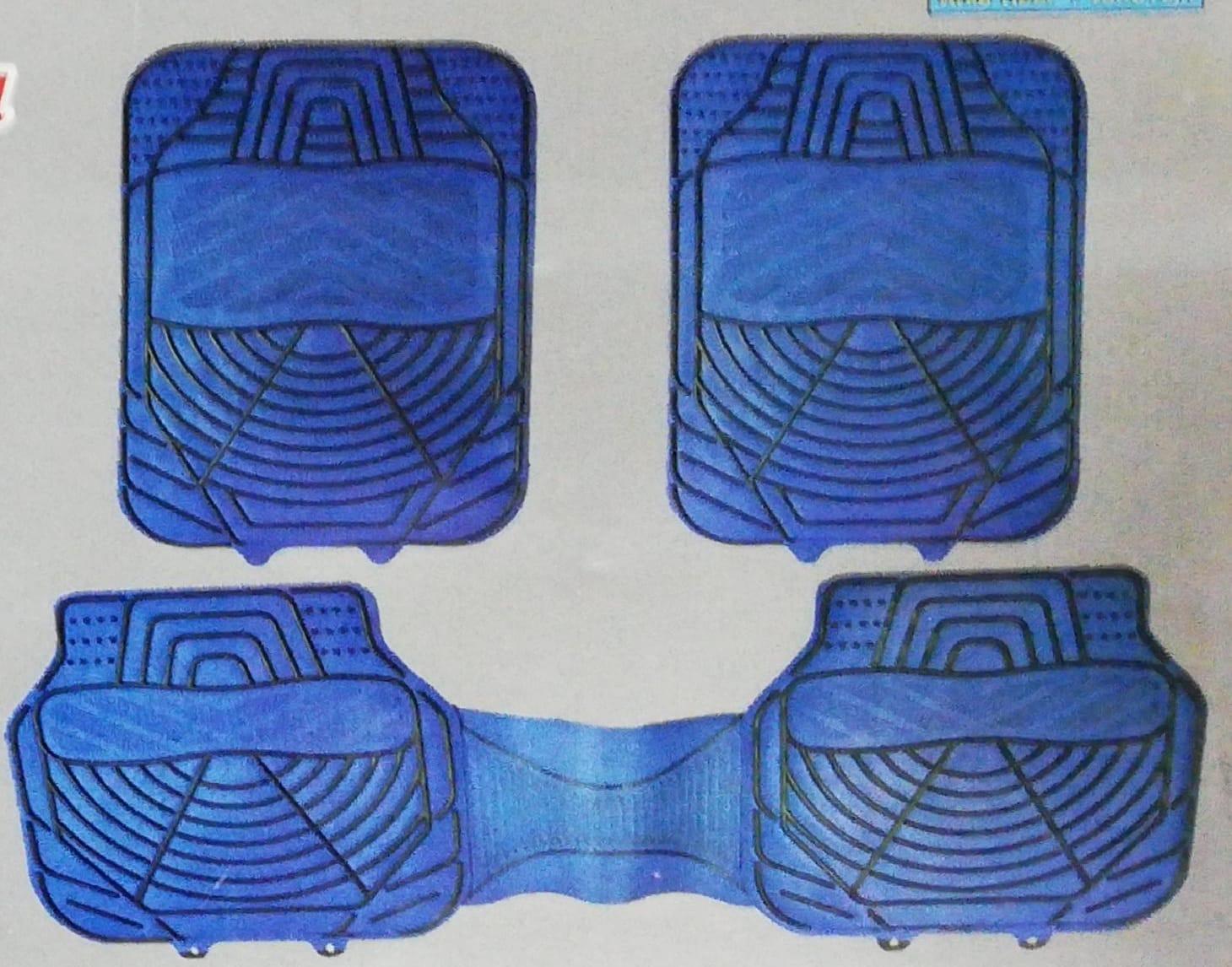 Spor paspas pvc desenli 5 parça siyah kırmızı gri mavi