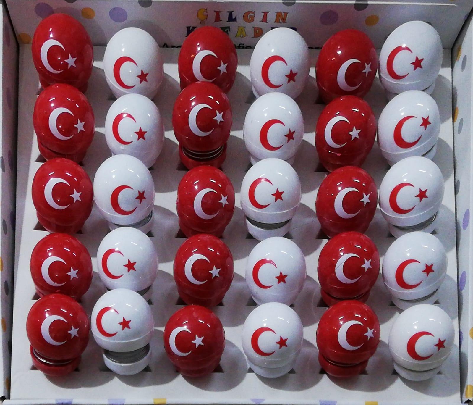 Türkiye AY YILDIZ Zıp Zıp Kafa Sallanan Tekli ve 30 lu Satiş