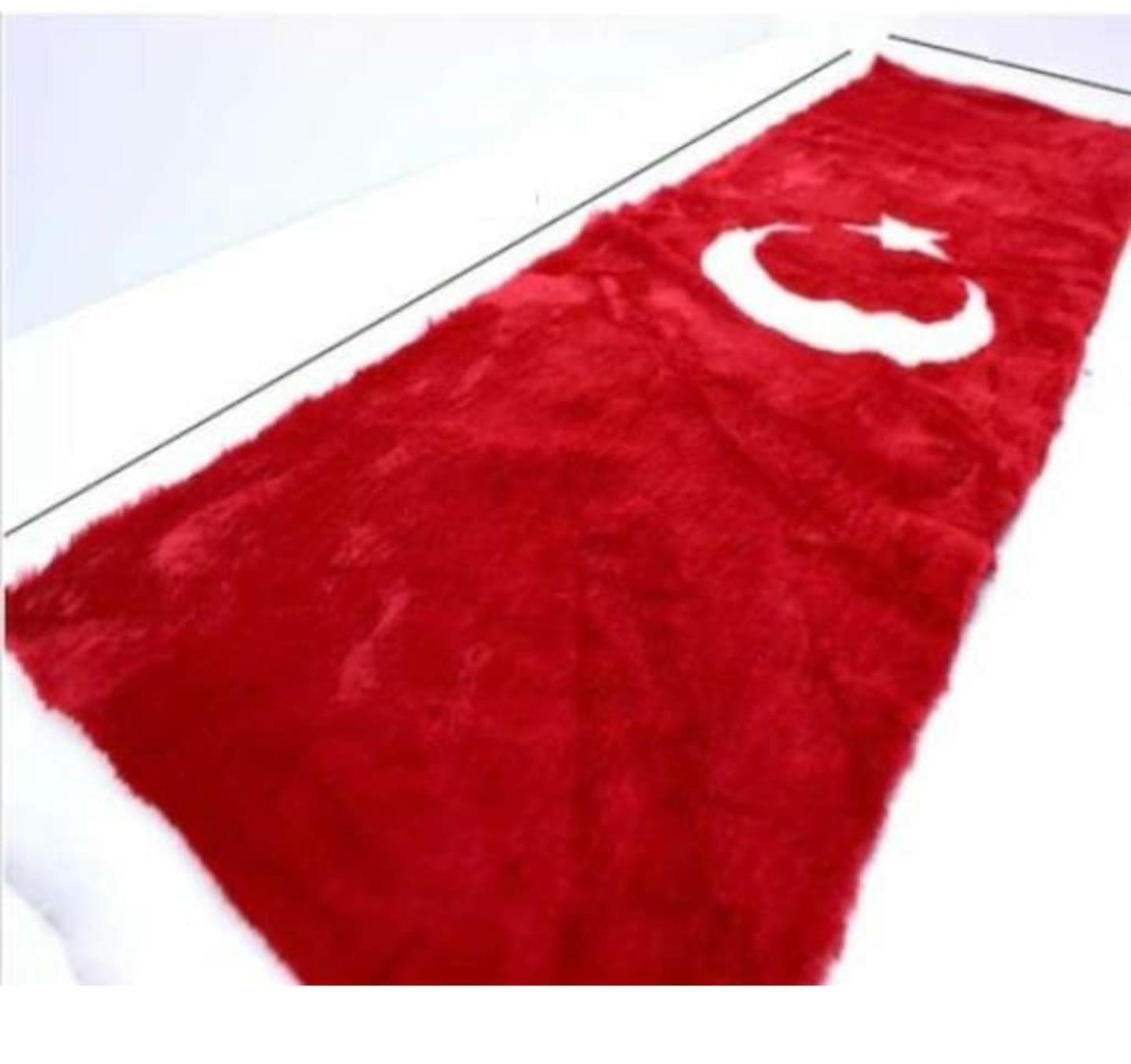 Peluş Türk Bayrağı Torpido Halısı Ay Yıldız