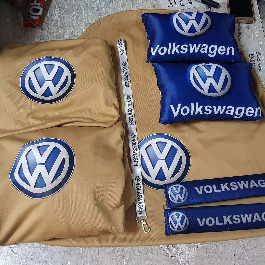 Volkswagen vw Ön Arka Servis Kılıfı 2 li yastık 2 kemer 1 ayna i