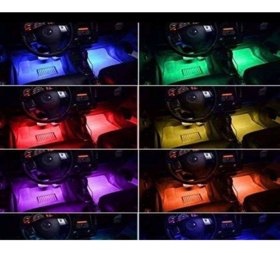 AYAK ALTI LED AYDINLATMA # Kumandalı # Rgb # Kolay Montaj SESE DU