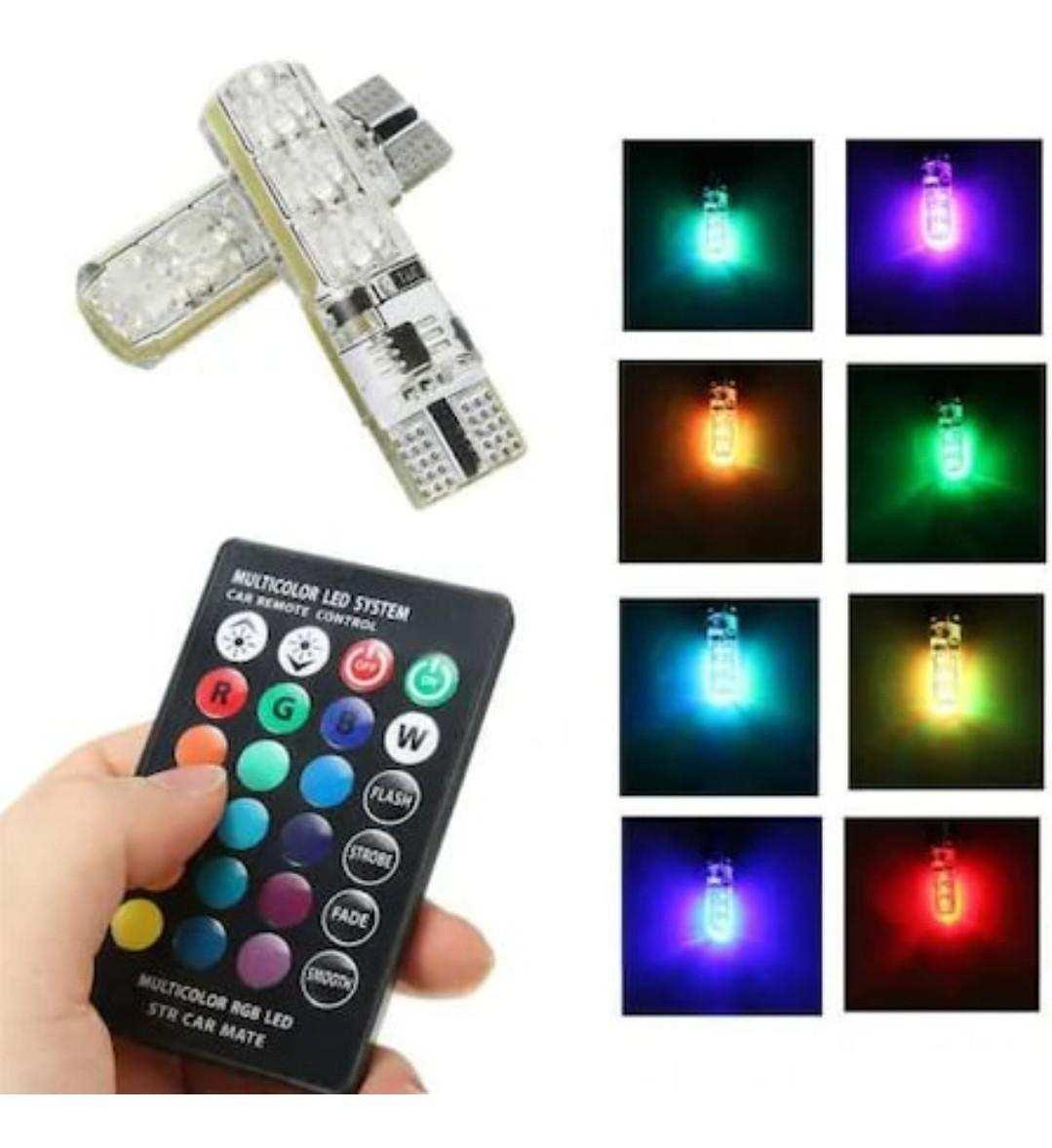 DİPSİZ LED RGB T10 KUMANDALI PARK AYDINLATMA LAMBA AMPUL PARK AM