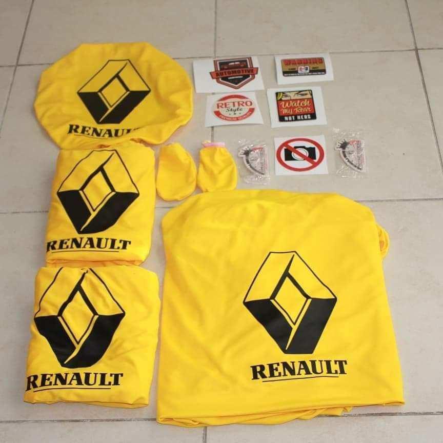 Renault Reno Ön Arka Servis Kılıfı Direksiyon Set 3 Adet Sticker