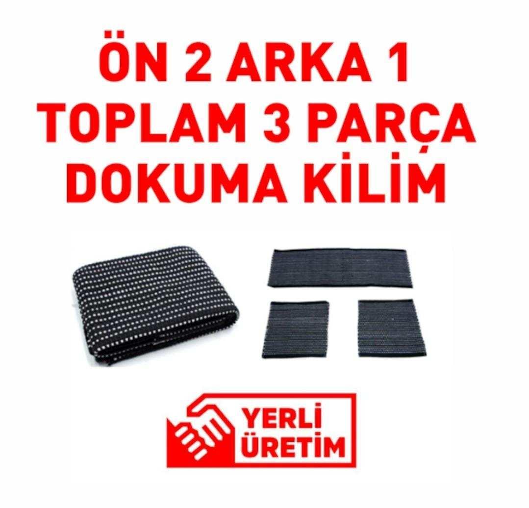 OTO KİLİM 3'LÜ SET ÖN VE ARKA KOLTUK TERLETMEZ KONFORLU