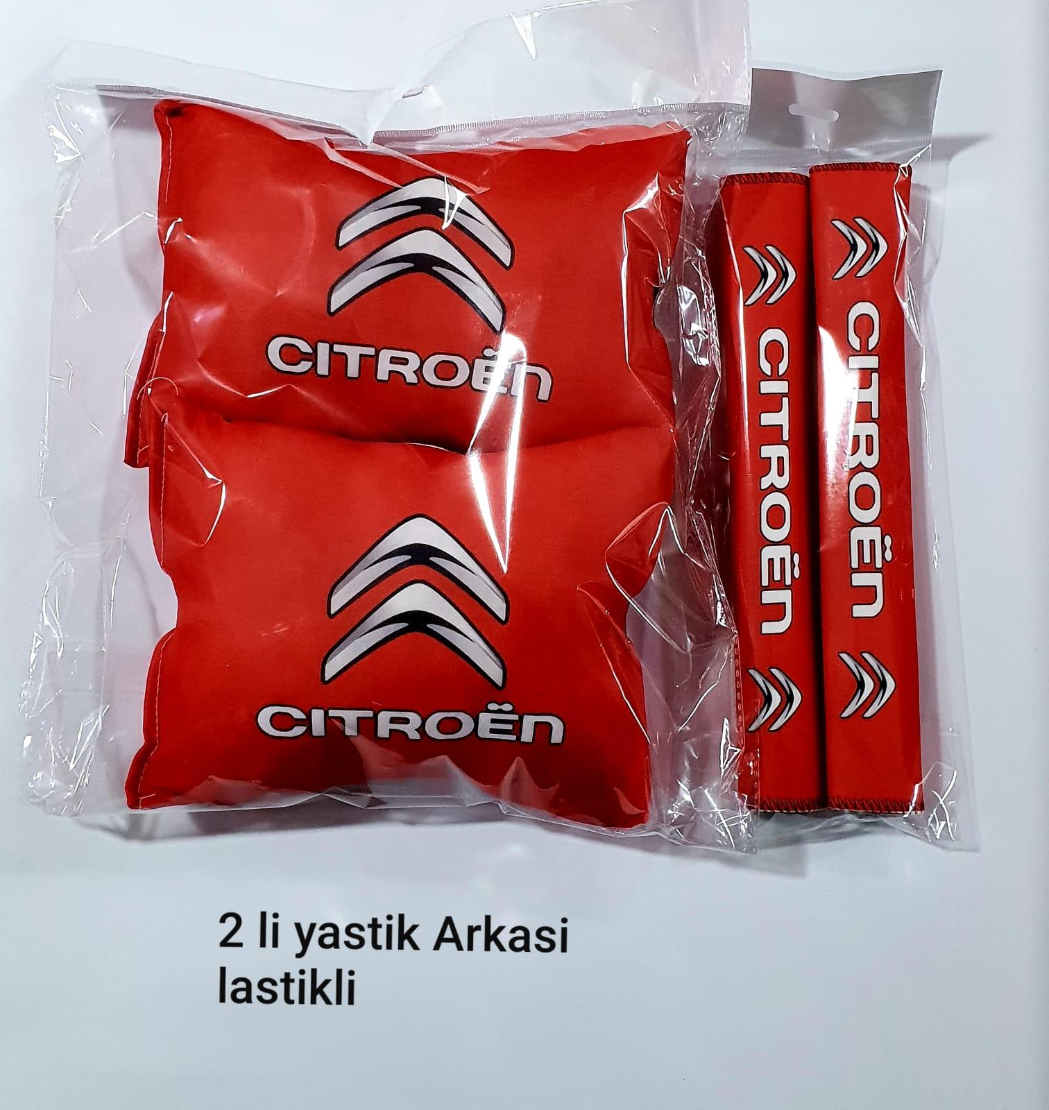 CITROEN Oto Boyun Yastık Minder - TAMPON DİLİ - 2 adet YASTIK KEMER