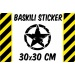 Off-Road Army Star 30x30 cm Sticker-ETİKET