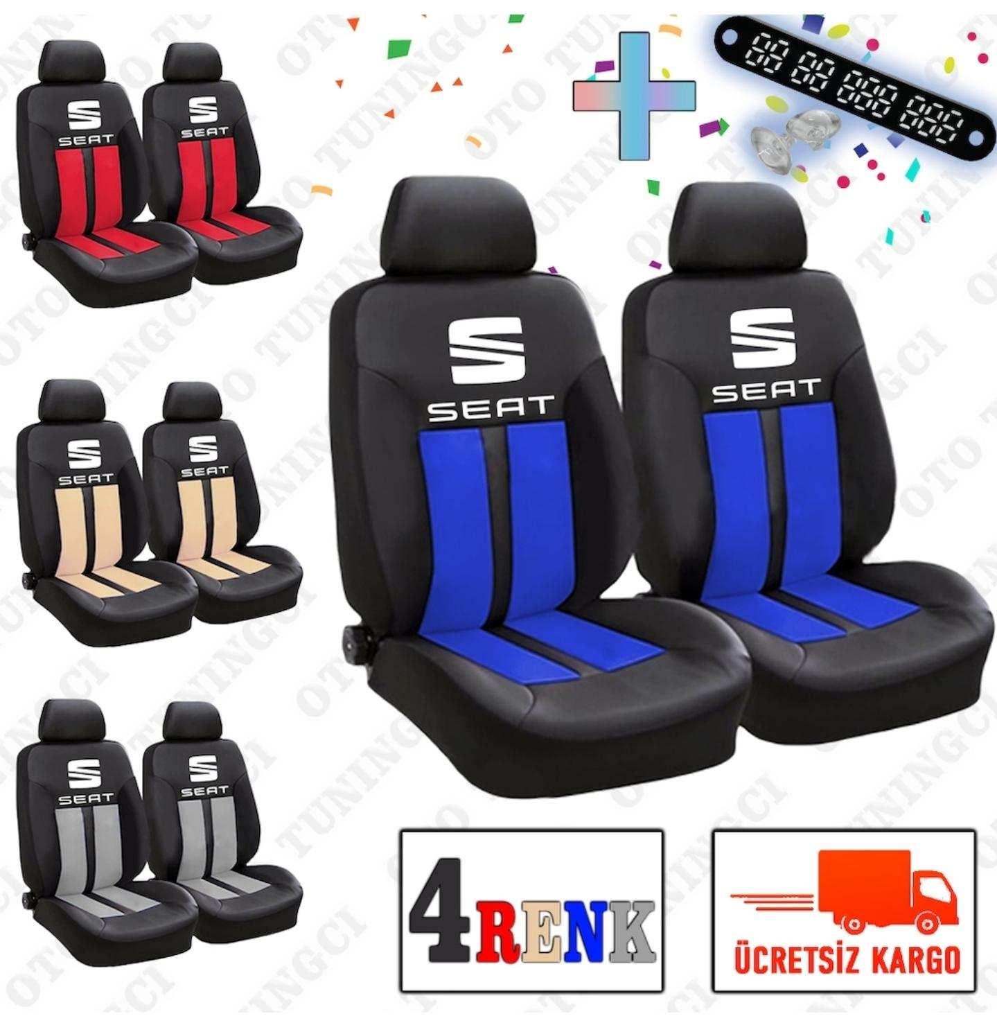 Seat SPOR Şeritli Arka Kılıf Dahil Oto Koltuk Kılıfı Set + Numaramatik Parktel HEDİYE