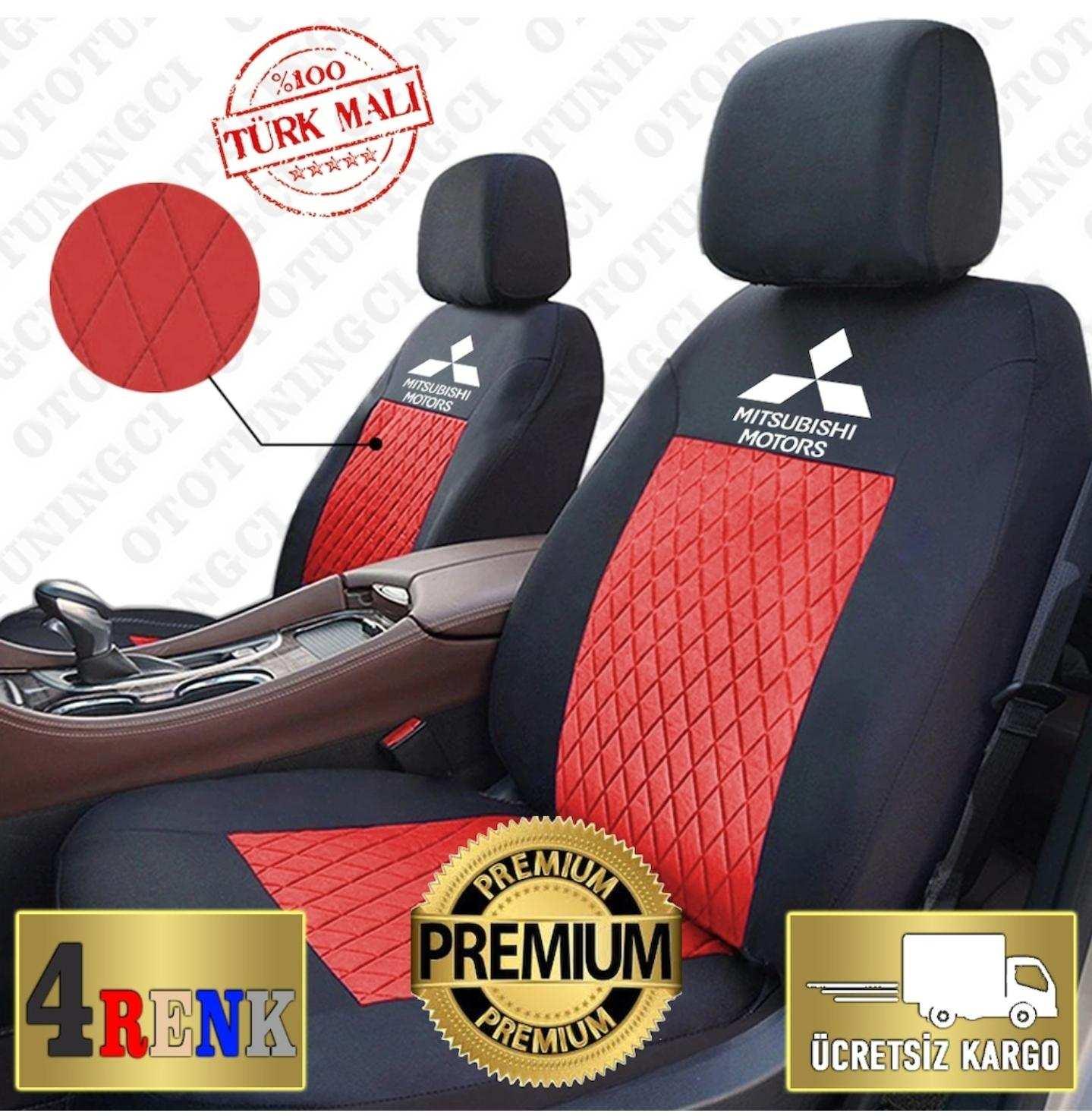 Mitsubishi SPOR Oto Koltuk Kılıfı Set KUMAŞ +2 Lİ YASTIK 2 Lİ KEMER HEDİYE MODEL SEÇİNİZ TÜM ARAÇLAR