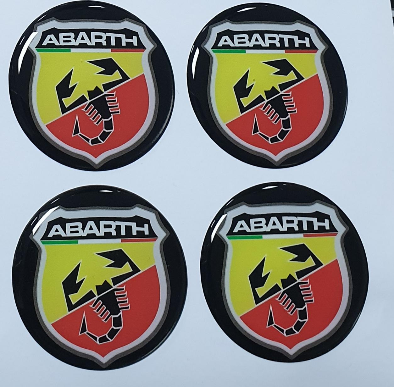 Damla Etiket Abarth 45mm. 4 Adet logo 3D oto aksesuar seti sticker