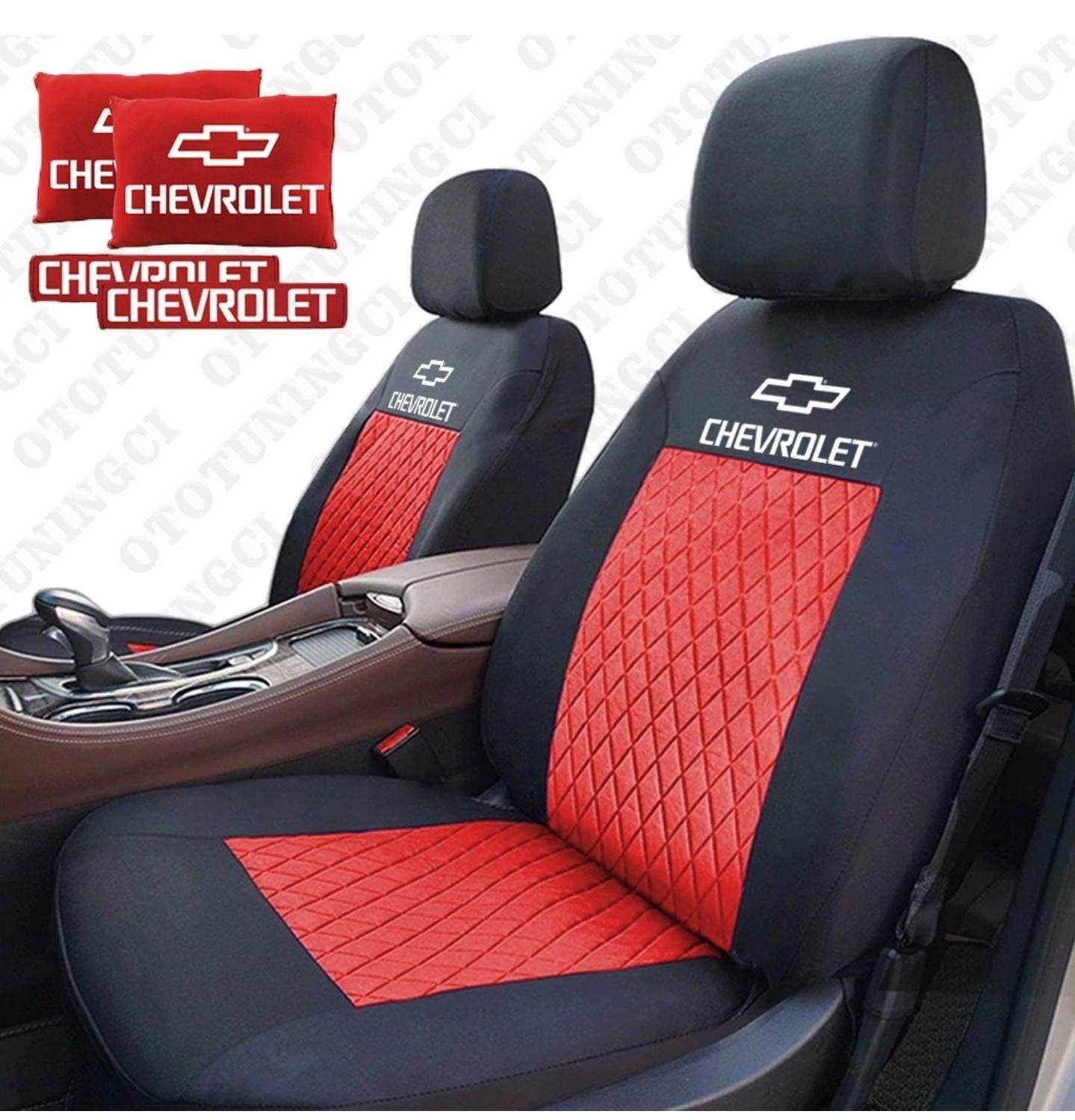Chevrolet Spor Oto Koltuk Kilifi Set Kumas 2 Li Yastik 2 Li Kemer Hediye Model Seciniz Tum Araclar